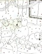 """Ilustración para la contraportada de """"la fiesta oscura"""" de Trepàt"""